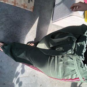 High waist green pants
